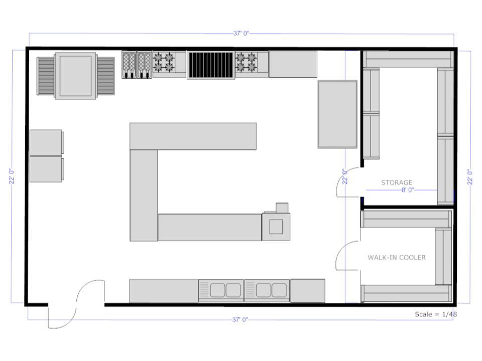 Fine dining kitchen layout